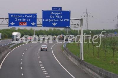 A28 nabij Meppel