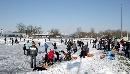 Winterbeelden ijsbaan Meppel